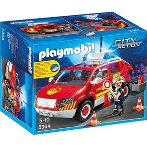 Playmobil City Action Brandweer Commandant met Dienstwagen 5364