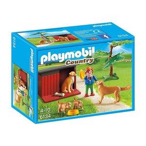 Playmobil Country Goldenretrievers met Puppies 6134