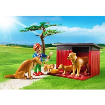 Playmobil Playmobil Country Goldenretrievers met Puppies 6134
