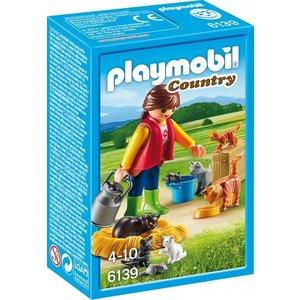 Playmobil Country Bonte Kattenfamilie 6139