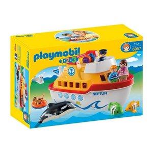 Playmobil 1 2 3 Mijn Meeneem Schip 6957