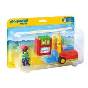 Playmobil 1 2 3 Vorklift met Lading 6959
