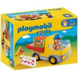 Playmobil 1 2 3 Vrachtwagen met Laadklep 6960