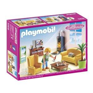 Playmobil Dollhouse Woonkamer met Houtkachel 5308