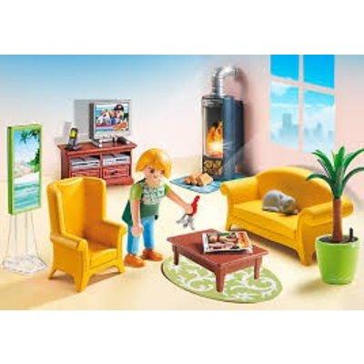 Playmobil Playmobil Dollhouse Woonkamer met Houtkachel 5308