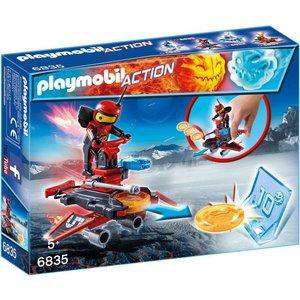 Playmobil Action Firebolt met Disc Shooter 6835