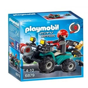 Playmobil City Action Bandiet en Quad met Lier 6879