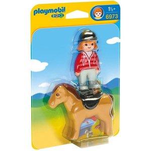 Playmobil 1 2 3 Ruiter met Paard 6973
