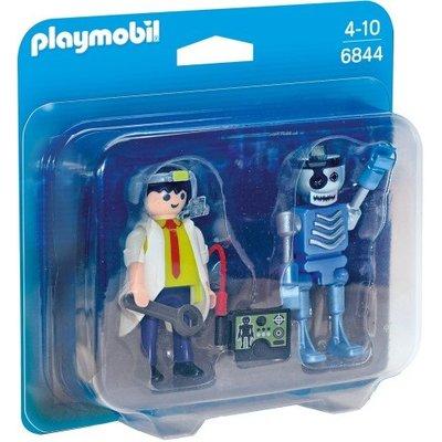 Playmobil Playmobil Duopack Uitvinder en Robot 6844