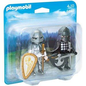 Playmobil Duopack Zwarte en Zilvere Ridder 6847
