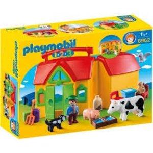 Playmobil 1 2 3 Meeneem Boerderij 6962