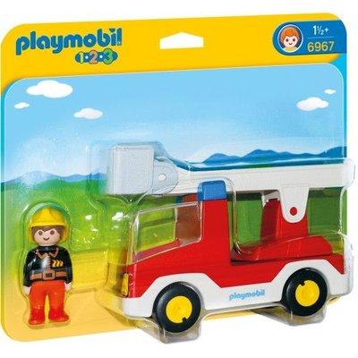 Playmobil Playmobil 1 2 3 Brandweerwagen met Ladder 6967