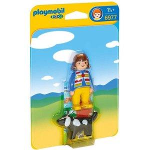 Playmobil 1 2 3 Vrouw met Hond 6977