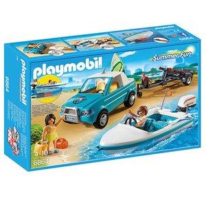 Playmobil Summer Fun Pick-Up met Speedboot en Onderwatermoter 6864