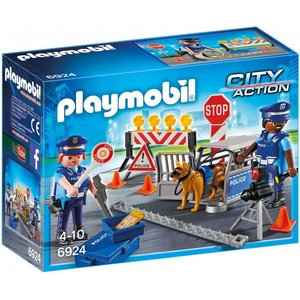 Playmobil City Action Politie Versperring 6924
