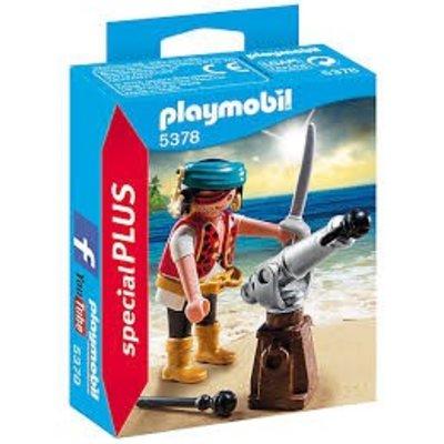 Playmobil Playmobil Speciaal Plus Piraat met Brons Scheepskanon 5378