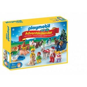 Playmobil 1 2 3 Adventkalender Dieren op de Boerderij 9009