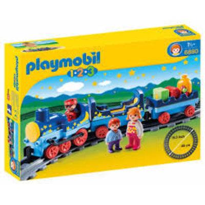 Playmobil Playmobil 1 2 3 Sterrentrein met Passagiers 6880