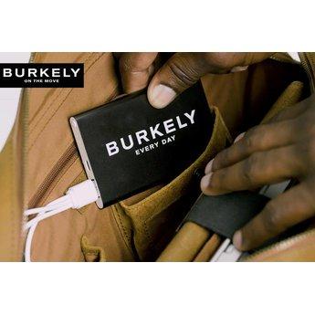 Burkely mooie lederen laptoptas met powerbank