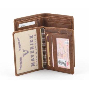 Maverick vintage lederen portefeuille