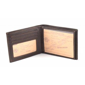 Arthur&Aston lederen porte-dollar, billfold zonder kleingeldvak