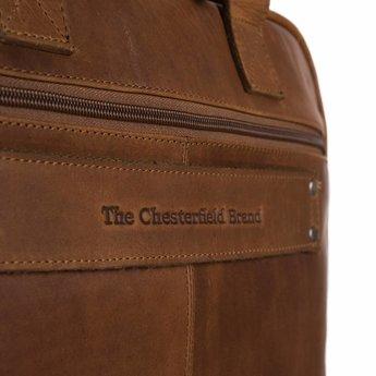 The Chesterfield Brand lederen aktetas met laptopvak