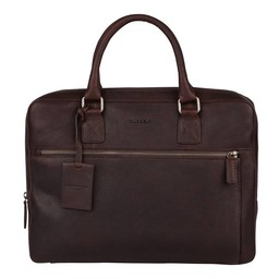 "Burkely Antique Avery Laptopbag 13.3"" bruin"