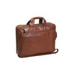 The Chesterfield Brand Leren Laptoptas Manuel cognac