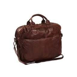The Chesterfield Brand Leren Laptoptas Amsterdam bruin