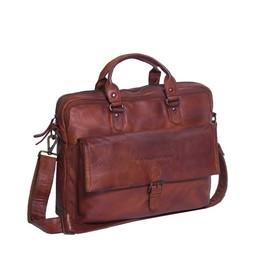 The Chesterfield Brand Leren Laptoptas Steve cognac