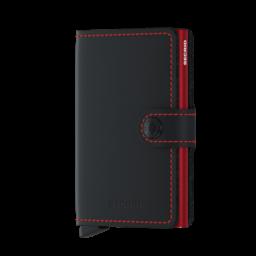 Secrid Mini Wallet matte black red