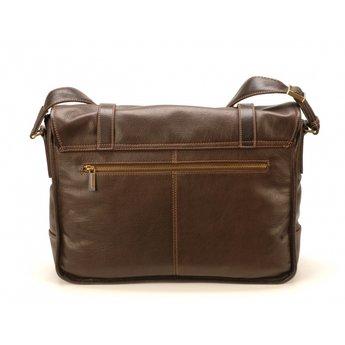 Arthur&Aston mooie lederen schoudertas, messengerbag