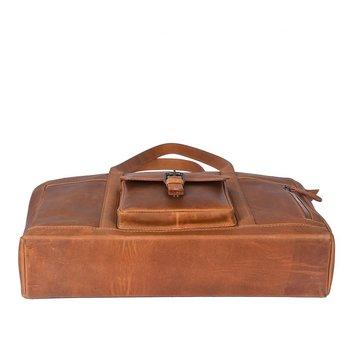 Sparwell originele leren shopper, werktas, laptoptas
