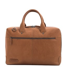Plevier Flint Businesstas 15.6 inch cognac