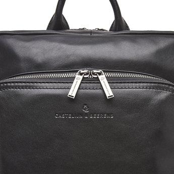 """Castelijn & Beerens prachtige lederen 15.6"""" laptoprugzak"""