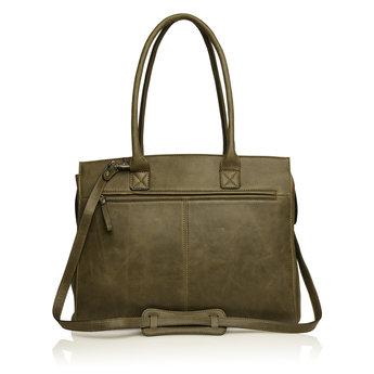 Castelijn & Beerens lederen dames shopper, 15.6 inch laptoptas