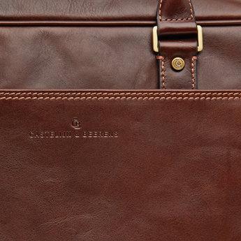 """Castelijn & Beerens prachtige lederen 15.6"""" laptoptas"""