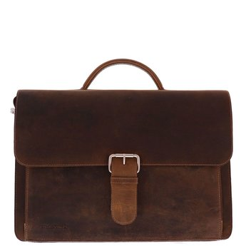Plevier vintage lederen 15.6 inch laptoptas