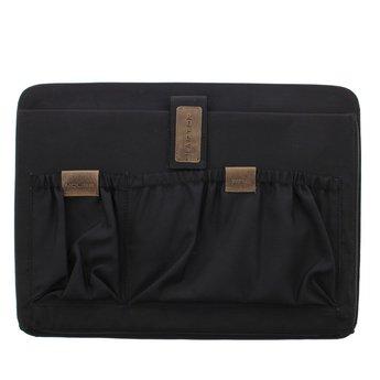 Plevier lederen dames shopper, 15.6 inch laptoptas