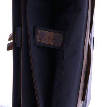 Plevier lederen 15.6 inch laptoptas