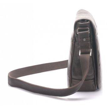 Arthur&Aston prachtige leren schoudertas, messengerbag
