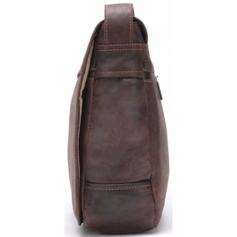 Arthur&Aston lederen schoudertas, messengerbag