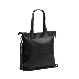 The Chesterfield Brand Leren Shopper Darwin zwart
