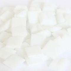 Cristallo Glas mozaiek steentjes 1x1 cm ca. 200 stuks Wit