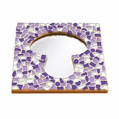 Cristallo Mozaiek pakket Spiegel Paddenstoel Wit-Paars-Violet