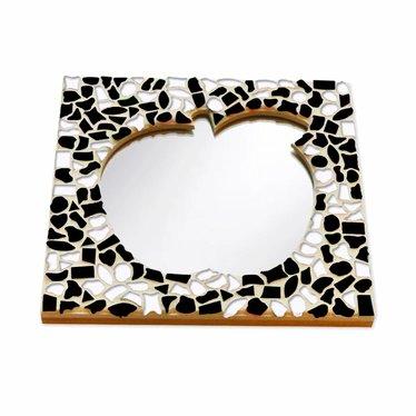 Cristallo Mozaiek pakket Spiegel Appel Zwart-Wit