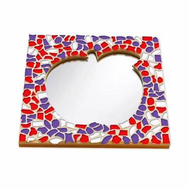Cristallo Mozaiek pakket Spiegel Appel Rood-Wit-Paars