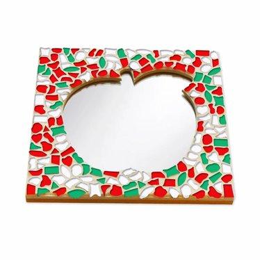 Cristallo Mozaiek pakket Spiegel Appel Kerst