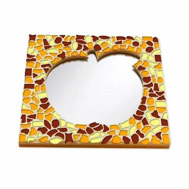 Cristallo Mozaiek pakket Spiegel Appel Bruin-Oranje-Geel