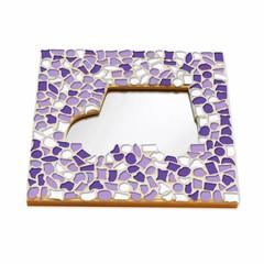 Cristallo Mozaiek pakket Spiegel Auto Wit-Paars-Violet